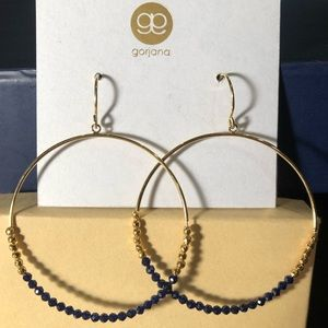 NWT Laguna Beaded Hoop Drop Earrings